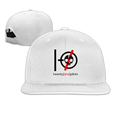 25dbdaac703 Image Unavailable. Image not available for. Colour  Flat-Along Adjustable  Graphic Twenty One Pilots Skeleton Logo Blurryface Trucker Hats Dad Hats