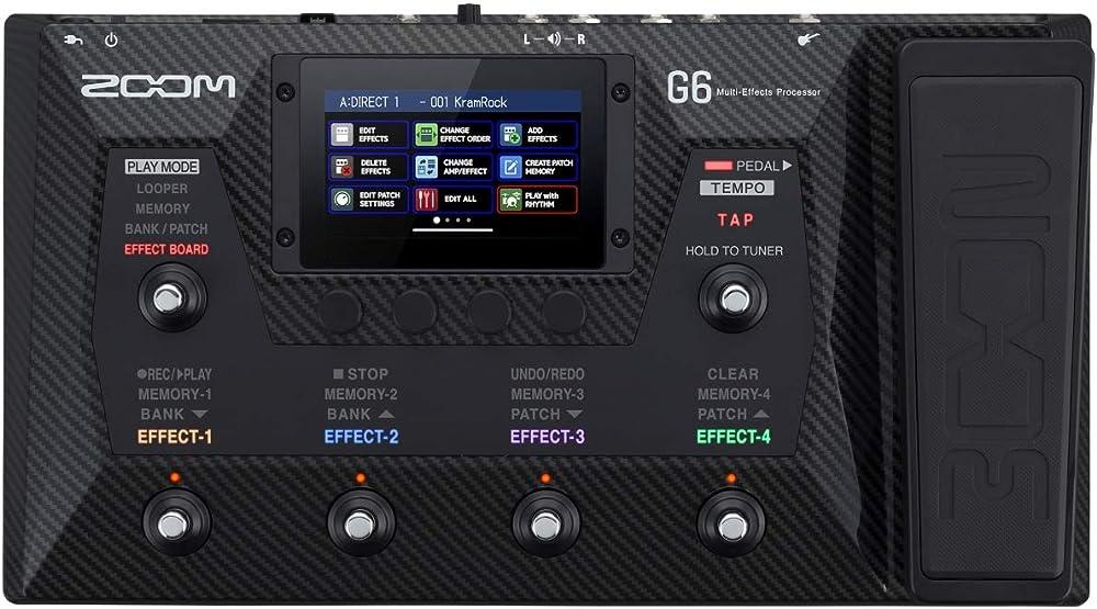ZOOM G6:フロントパネル