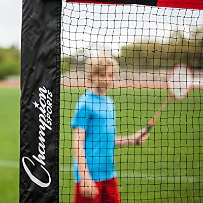 Champion Sports Portable Volleyball Net: Outdoor Beach Volleyball Badminton & Tennis Court Nets, 14' or 20' x 61""