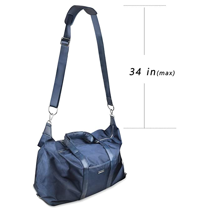 Travel Handbag for Men Ablegrid Working Overnight Weekender Trip Bag Women Lady Casual Daily Fit for Gym Sport Duffel Tote Bag