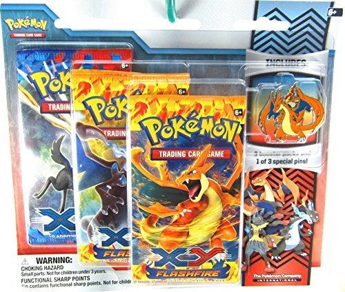 Pokemon XY Flashfire Trading Card Game Booster Pack Pin Set