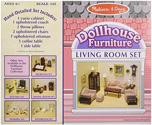 toys, games, dolls, accessories, dollhouse accessories,  furniture 8 picture Melissa & Doug Doll-House Furniture- Living Room Set promotion