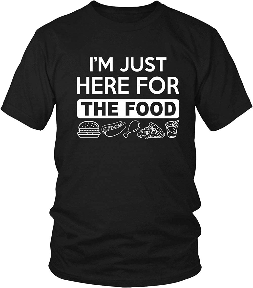 Teeone Limited I'm Just Here for The Food T Shirt