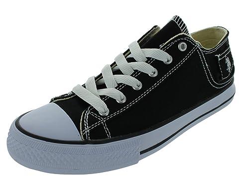 US Polo Assn Paddock Lo - Zapatos con Cordones Hombre, Color Negro ...