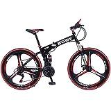 دراجة هوائية رياضية قابلة للطي بلون اسود موديل BD-8003