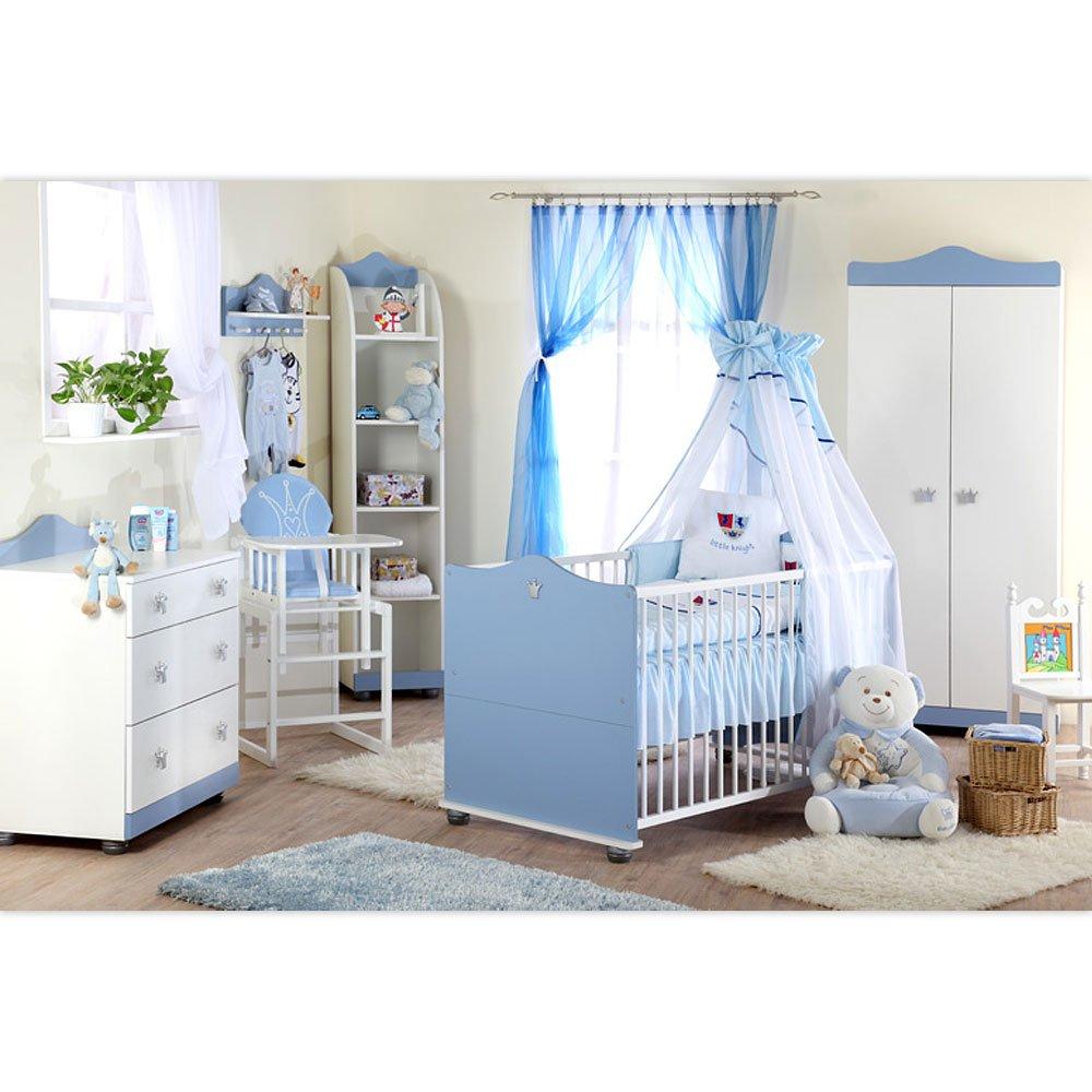 Babyzimmer Kleiner Prinz Kleine Prinzessin 7 tlg. (Blau)
