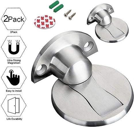 Magnetic Door Holder Stopper Doorstop Wall Floor Mounted Safety Catch Sof