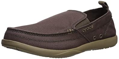 437c401af76 Crocs Mens - Walu Relaxed Slip on Brown Size  10 US   9 AU