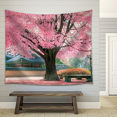 Pink Tree Fabric Wall