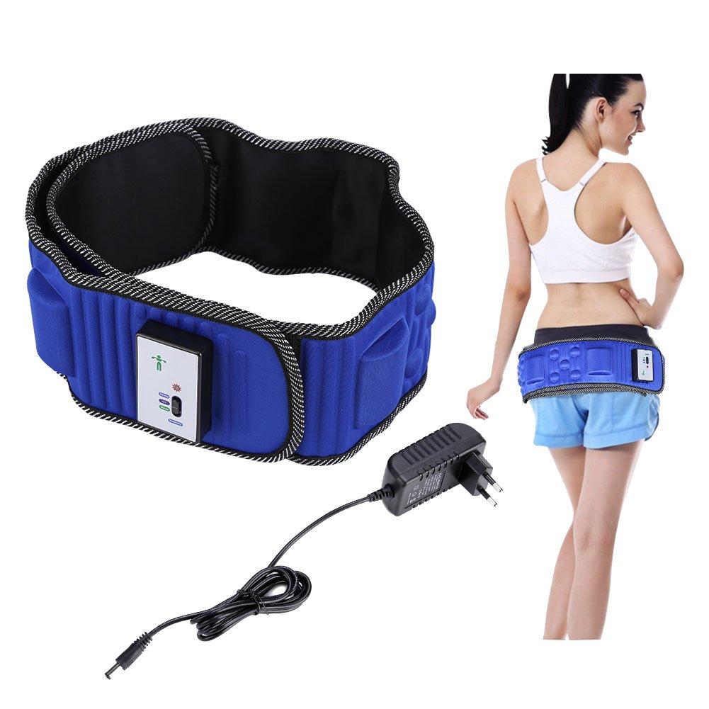 Cintura addominale forma del corpo riduzione del grasso bruciato cintura massaggiatore a vibrazione 5 motori perdita del peso del grasso. rimozione elettrica