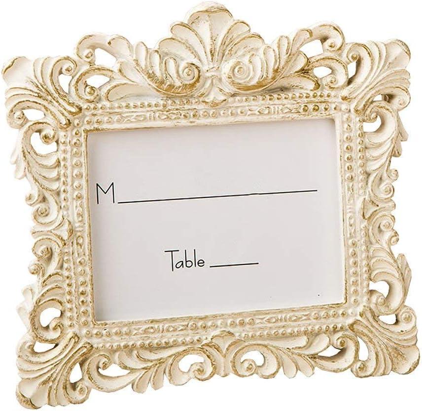 12 Ivory /& Gold Baroque Wedding Bridal Shower Reception Table Number Frame