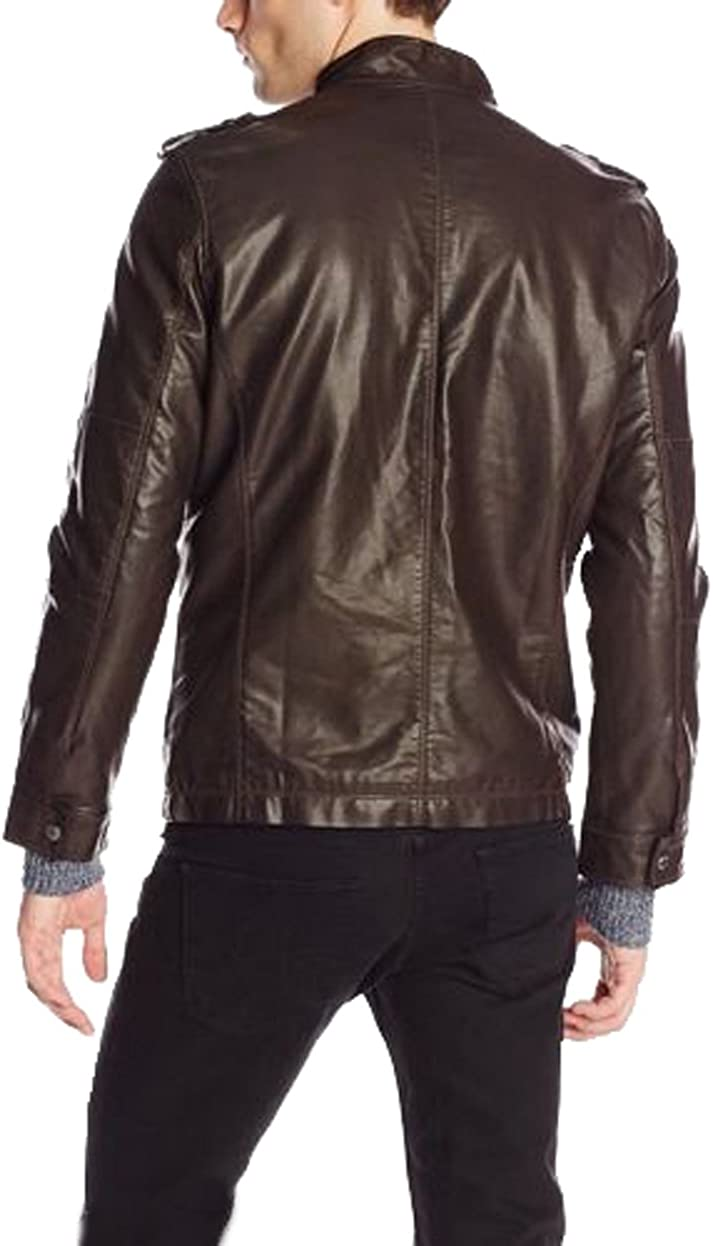 New Men Designer Genuine Lambskin Soft Biker Leather Jacket N1259