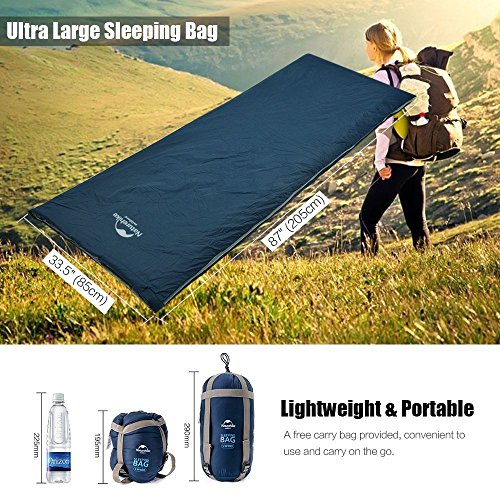 IeGeek Sleeping Bag Lightweight Envelope Sleeping Bags With Compression Sack Portable Waterproof For 3 Season Travel Camping Hiking Backpacking Outdoor ActivitiesUltra Large For KidAdults