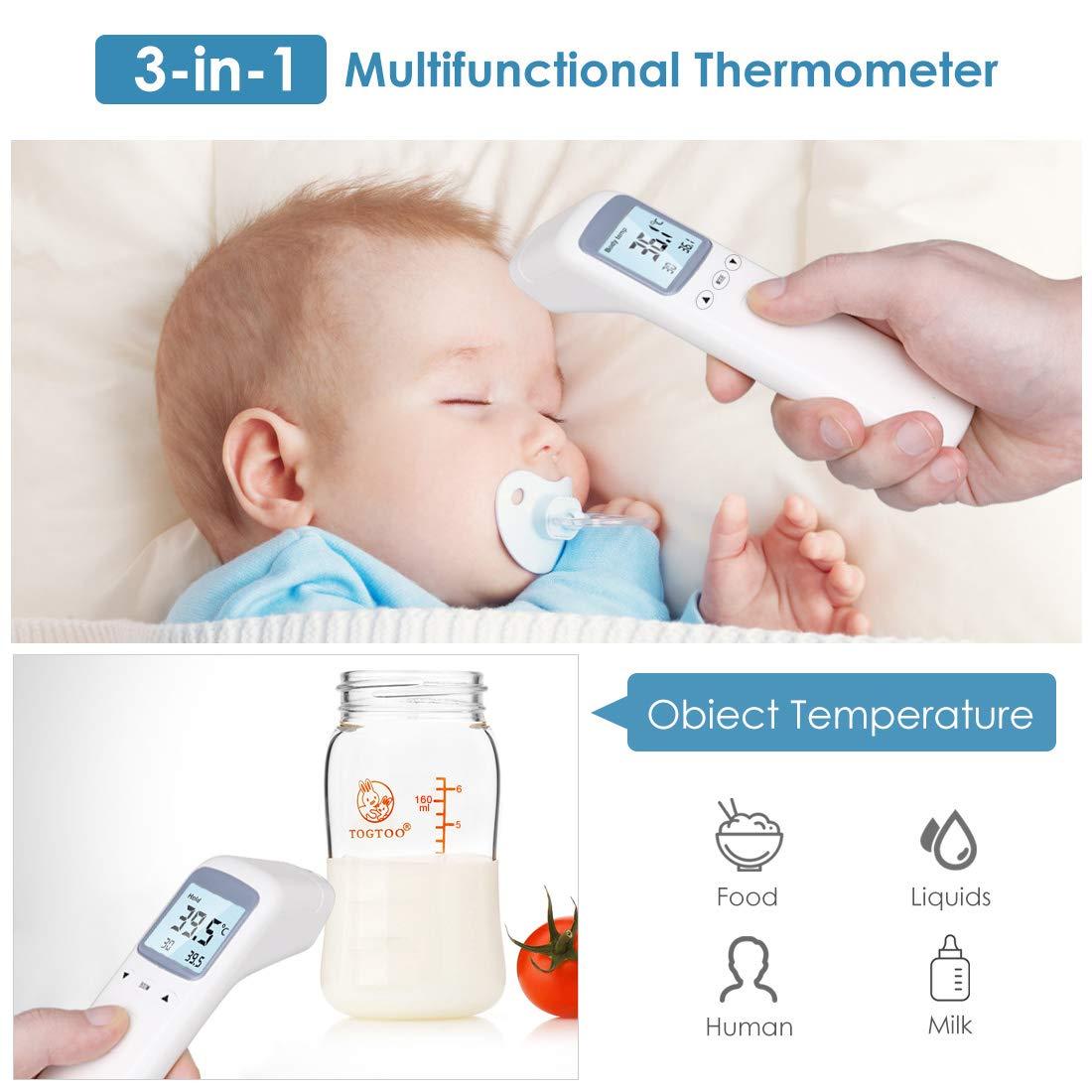 Stirnthermometer Intelligent und pr/äzise Multi-Mode-Thermometer Erwachsene Elektronisches Stirn//Ohren-Thermometer f/ür Baby