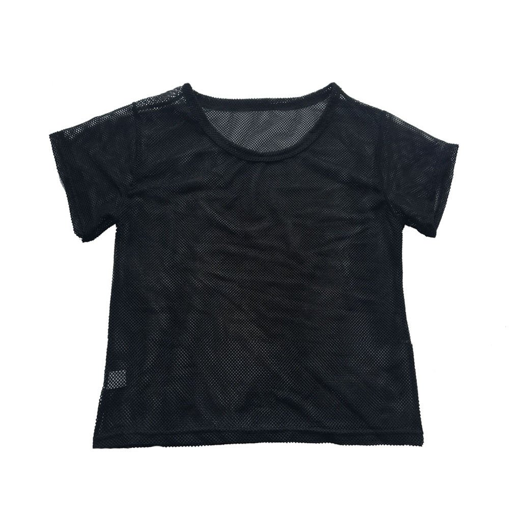 YAliDa 2019 clearance sale Women Black Mesh Cover Up Sports Meshed Top Dancing Fitness Shirt Tops XL(X-Large,Black)