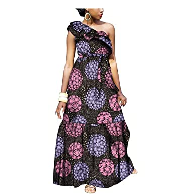 3d15ab21b African Dresses for Women Party Wear Wax Print Ankar Costly Fashion Ball  Gown Cocktail at Amazon Women's Clothing store: