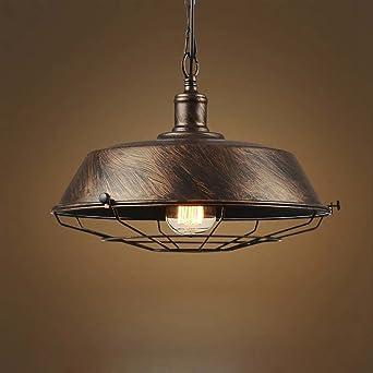 JINGUO Lighting Adjustable Metal Cage Single Light Indoor Pendant ...