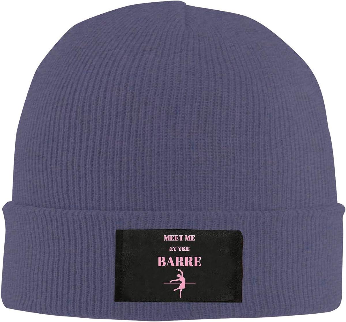 Men Women Meet Me at The Barre Skull Hat Beanie Cap Winter Knit Hat Cap