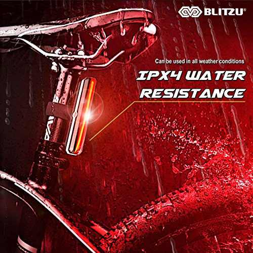 BLITZU Ultra Bright Bike Light Cyborg 168T USB Rechargeable Bicycle Tail Light. Red High Intensity Rear LED Accessories Fits On Any Road Bikes, Helmets. Easy to Install for Cycling Safety Flashlight by BLITZU (Image #5)