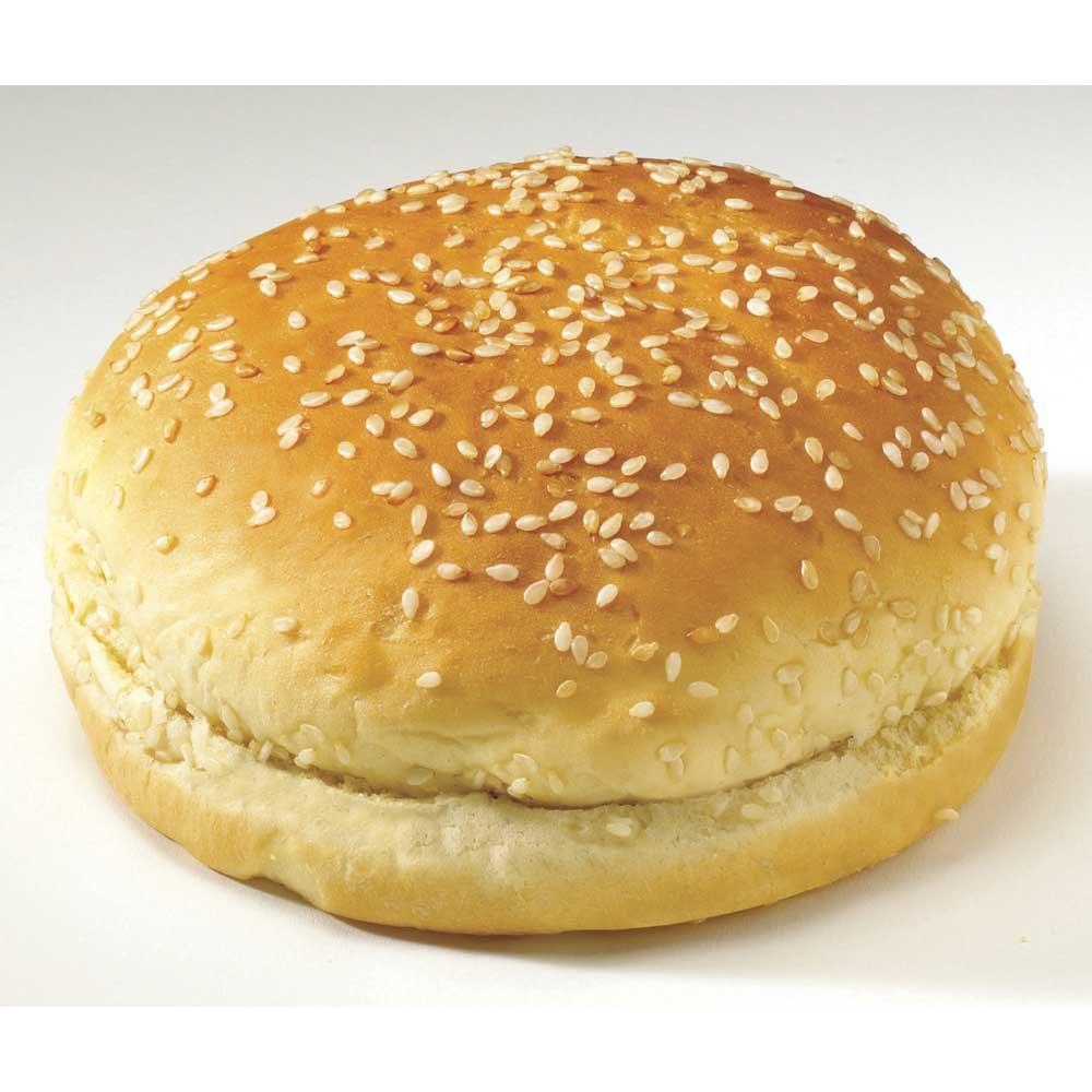 Flowers Foods European Bakers Sliced Sesame White Hamburger Bun, 4.5 inch - 12 per pack - 6 packs per case.