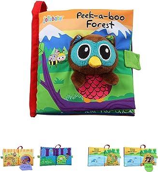 Libros de beb/é Tacto y Sentir Libro de Tela-Aprender a Libro sensorial-identificar Habilidades ni/ños y ni/ñas-Libros 3D Actividad de la Tela para beb/és//ni/ños peque/ños