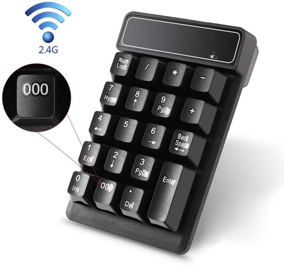 BHGFCGYUH 2.4G Wireless Bluetooth Numeric Keyboard Computer Financial Accounting Mini Keypad