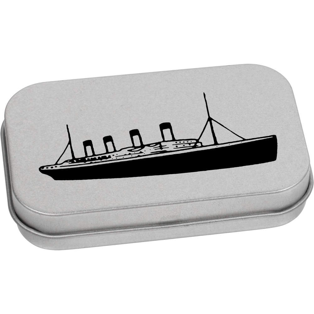Azeeda 80mm 'Titanic Ship' Metal Hinged Tin / Storage Box (TT00078679)
