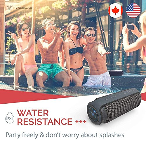 TREBLAB HD55 - Deluxe Bluetooth Speaker - Impeccable 360° HD Surround Sound & Best Bass, Great For Office, Travel & Beach Parties, Waterproof IPX4, Loud 24W Stereo, Portable Wireless Blue Tooth w/Mic by Treblab (Image #2)