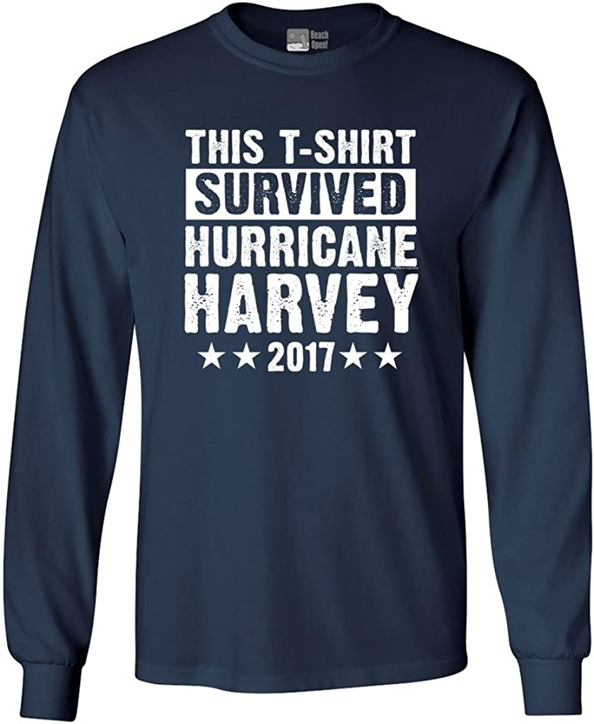 Long Sleeve Adult T-Shirt This T-Shirt Survived Hurricane Harvey Houston Texas 2017 DT
