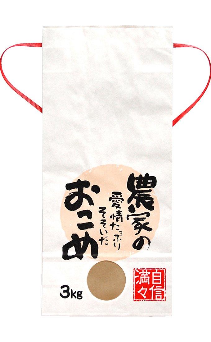 マルタカ 白クラフトSP 保湿タイプ 農家の愛情たっぷりそそいだおこめ 3kg用紐付 1ケース(300枚入) KHP-503 B077GJF6RD 3kg用米袋|1ケース(300枚入) 1ケース(300枚入) 3kg用米袋