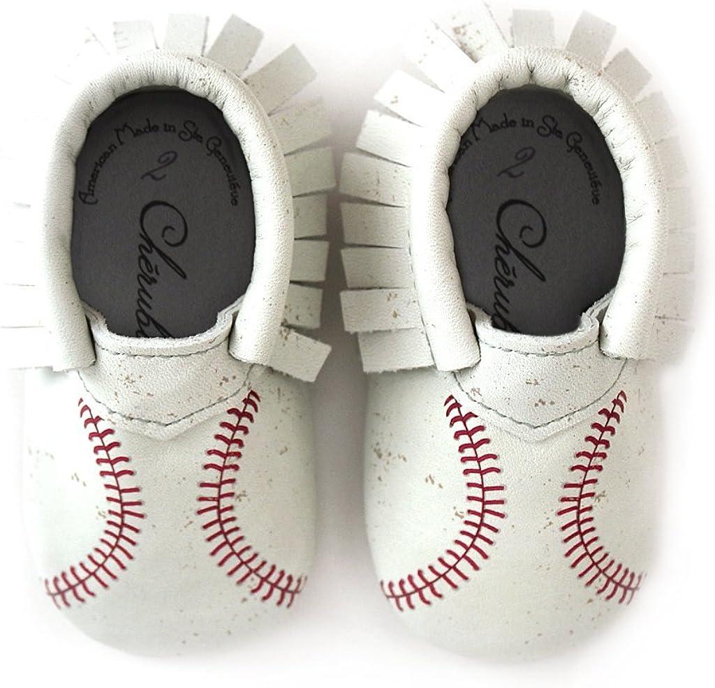Baseball Moccasin Printed Stitch Design