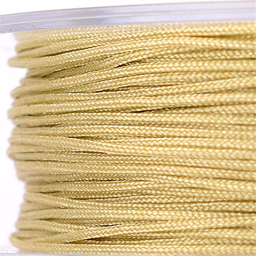 ON A ROLL 0.8mm Nylon Thread Beading Cord Jewelry Making Thread Braid Bracelet & Necklace DIY Accessories (Wood Color)