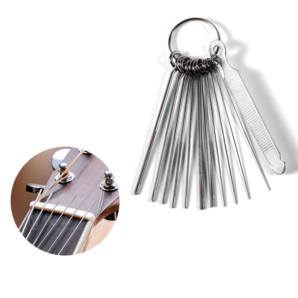 DIY Guitar Repair Tools Guitar Nut Slotting File Saw Rods Slot Filing Set Luthier Replacement Accessory Swinging Vine