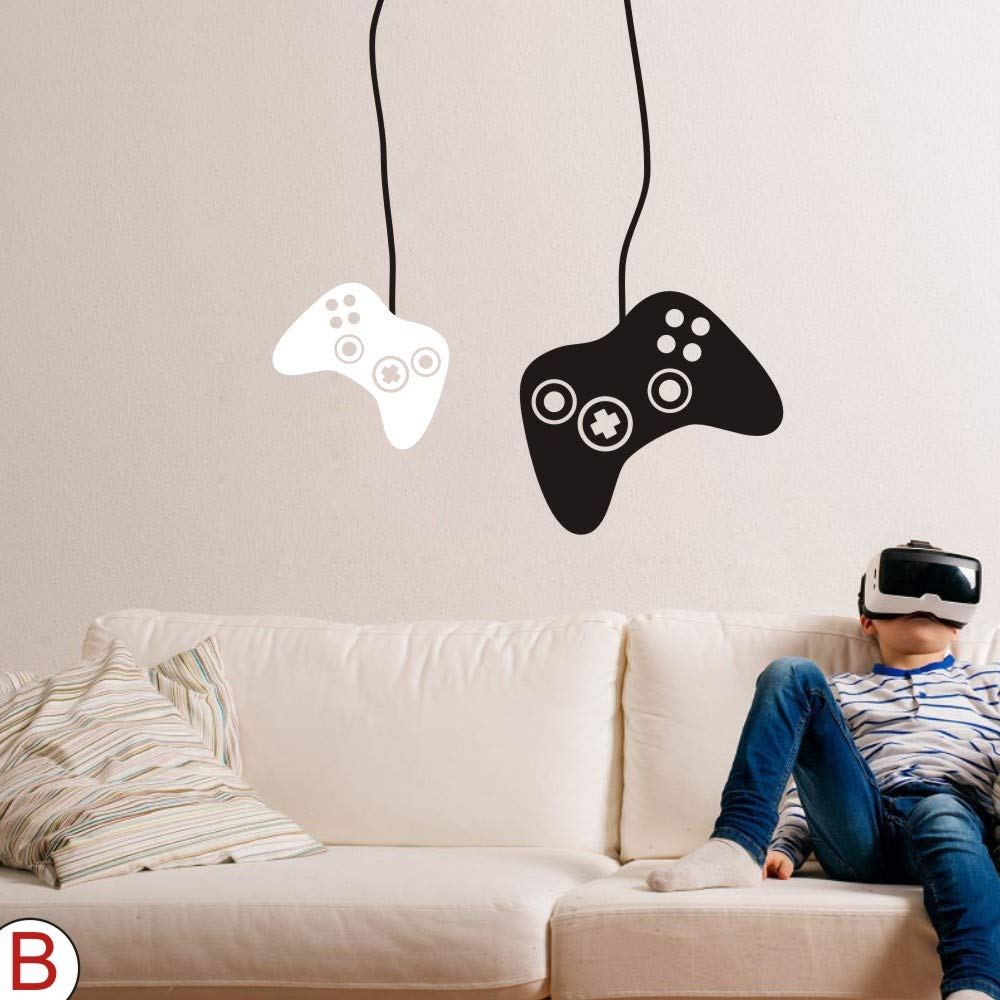 FlyWallD Game Wall Decal Boys Gamer Room Gaming Decals Bedroom Decor Video  Game Xbox Controller Vinyl Art Stickers