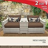 New Haven 3 Piece Outdoor Wicker Patio Furniture Set 03b