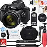 : Nikon COOLPIX P900 16MP 83x Super Zoom 4k Wi-Fi GPS Digital Camera + 64GB Memory & Accessory Bundle