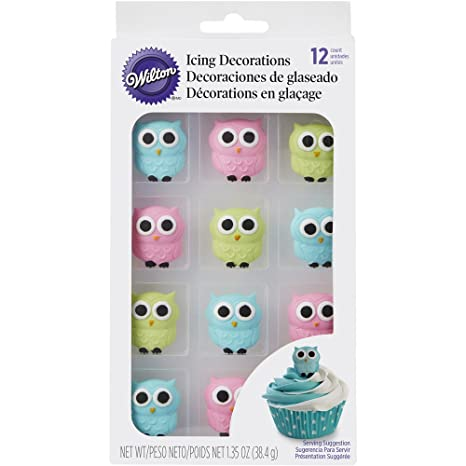 Wilton 710 6022 Owl Edible Icing Decorations