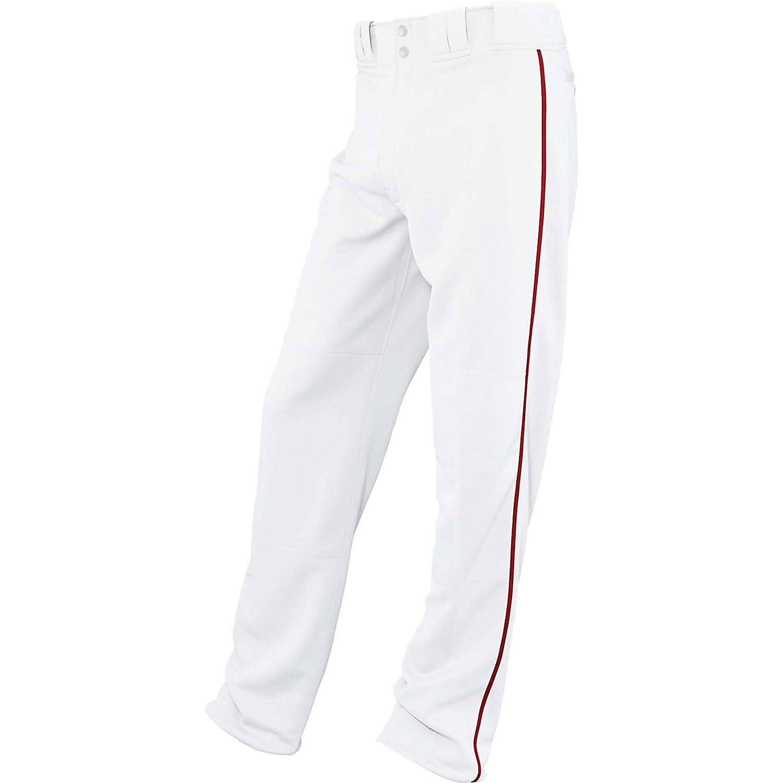 イーストンユースRival Piped Baseballパンツ、ホワイト/スカーレット、M B00G3C6CP6