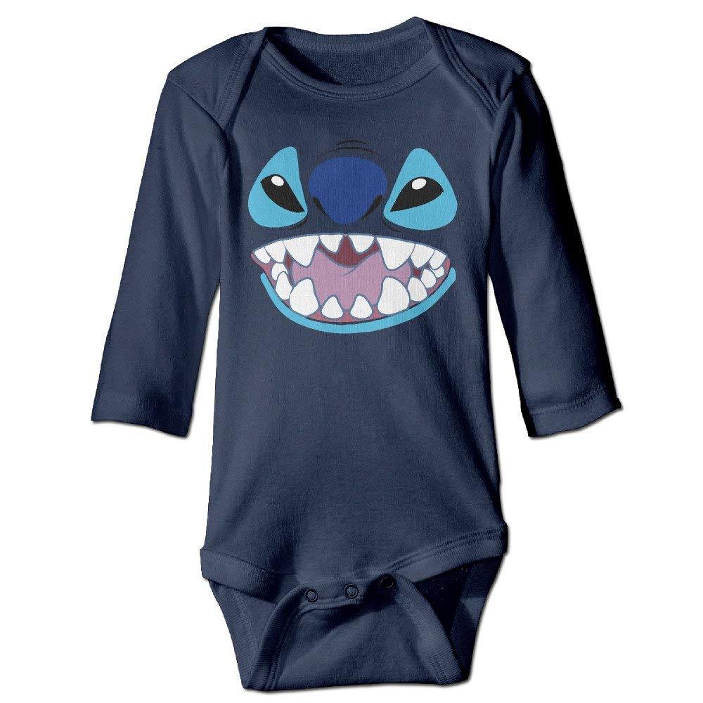 dsfsa Body Bambino Lilo And Stitch Stitch Face Cotton Baby Onesie
