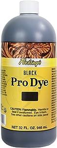 Fiebing's Pro Dye Black 32oz for leather