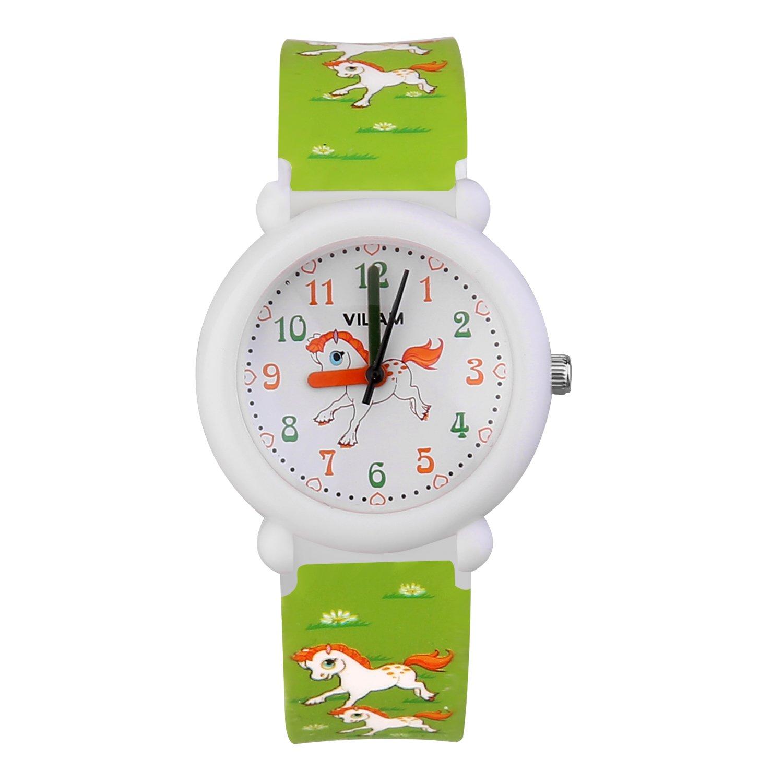 Kids Watch Children's Analog Watches Kids Time Teacher Watches Cartoon Wrist Watches Help Children Manage Time Waterproof Watch for Kids PU Watchbands Suitable for Gift