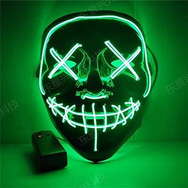 Máscara de Halloween hecha a mano con LED El año de elección de purga LED Máscara