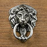 Naiture Brass Noble Lion Door Knocker In Antique Pewter Finish