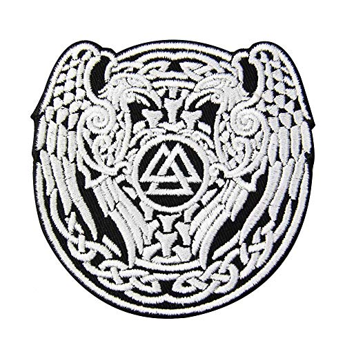 Valknut Triangle Symbol Viking Norse Rune Patch Embroidered