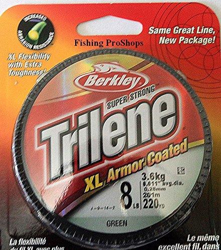 (Berkley Trilene 8 lb. Test Green XL Armor Coated Mono Line - 220 Yards)