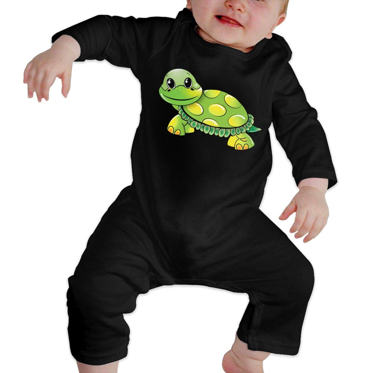 Funny Turtle Baby Newborn Baby Boy Girl Romper Jumpsuit Long Sleeve Bodysuit Overalls Outfits Clothes