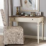 Baxton Studio Marquetterie Provincial Writing Desk in White