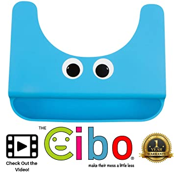 Set of 2 Silicone Baby Bibs with 1 Restaurant Placemat for Children Waterproof Easy to Carry and Travel · Great Eating Mat for Babies · Non Slip · Suction Place Mats Kids and Toddlers · Washable