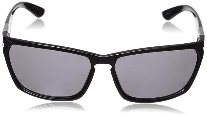 ef1449c773 Amazon.com  Suncloud Cutout Polarized Sunglass  Black Frame Gray Polarized  Polycarbonate Lenses  Clothing
