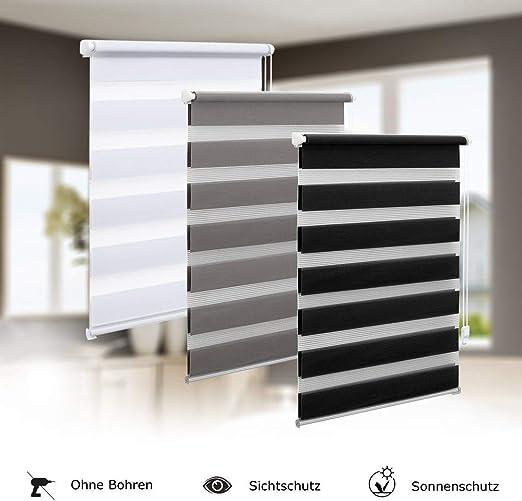 Lichtblick Duo Store Enrouleur adh/ésif sans per/çage Opaque